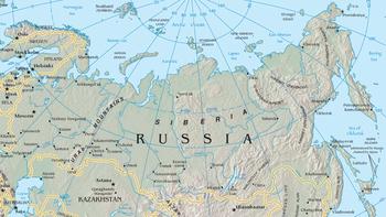 Kaart van siberië