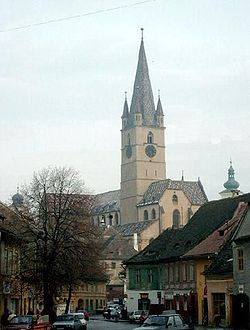 The Evangelical Cathedral viewed from the Lower City