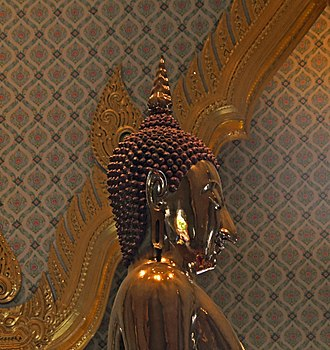 Golden Buddha (statue) - Side view of the statue