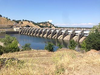 Folsom Lake State Recreation Area - View of Nimbus Dam