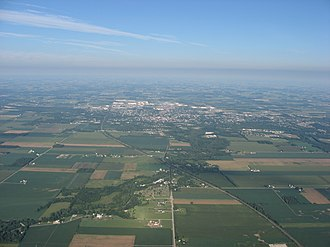Shelby County, Ohio - Sidney as seen from the east