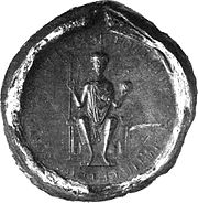 Seal of Lothair III. on a deed from 1131
