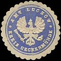 Siegelmarke Amt Luckow - Kreis Ueckermünde W0239890.jpg