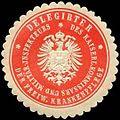 Siegelmarke Delegirter des Kaiserlichen Kommissars und Militär Inspekteurs der Freiwilligen Krankenpflege W0238301.jpg
