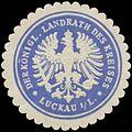 Siegelmarke Der K. Landrath des Kreises Luckau-Lausitz W0381841.jpg