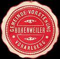 Siegelmarke Gemeinde-Vorstehung Hohenweiler - Vorarlberg W0261131.jpg