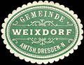 Siegelmarke Gemeinde Weixdorf - Amtshauptmannschaft Dresden-Neustadt W0262079.jpg