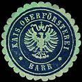 Siegelmarke Kais. Oberförsterei Barr W0301794.jpg