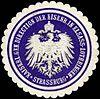 Siegelmarke Kaiserliche General Direction der Eisenbahn in Elsass - Lothringen - Strassburg W0223286.jpg