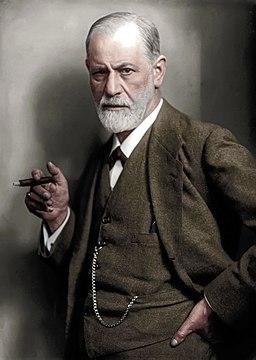 Sigmund Freud colorized