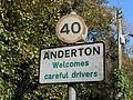 Sign at Anderton, Cheshire.JPG