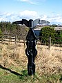 Signpost on the Lanchester Valley Walk - geograph.org.uk - 712722.jpg