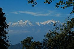 Kangchenjunga and its satellite peaks