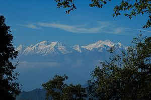 South Sikkim district - Kangchenjunga and its satellite peaks