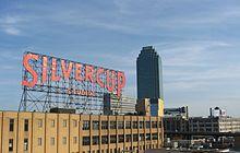 Subway Views of NYC Skyline and Silvercup Studio Sign Print Photo