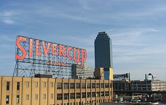 Long Island City - Citigroup Building and Silvercup Studios from the Queensboro Bridge