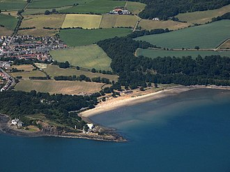 Aberdour - Silversands Bay from the air