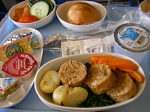 Singapore Airlines inflight meal