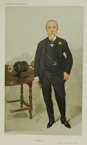 David Lionel Goldsmid-Stern-Salomons - Caricatuture by Sly for Vanity Fair, 1908
