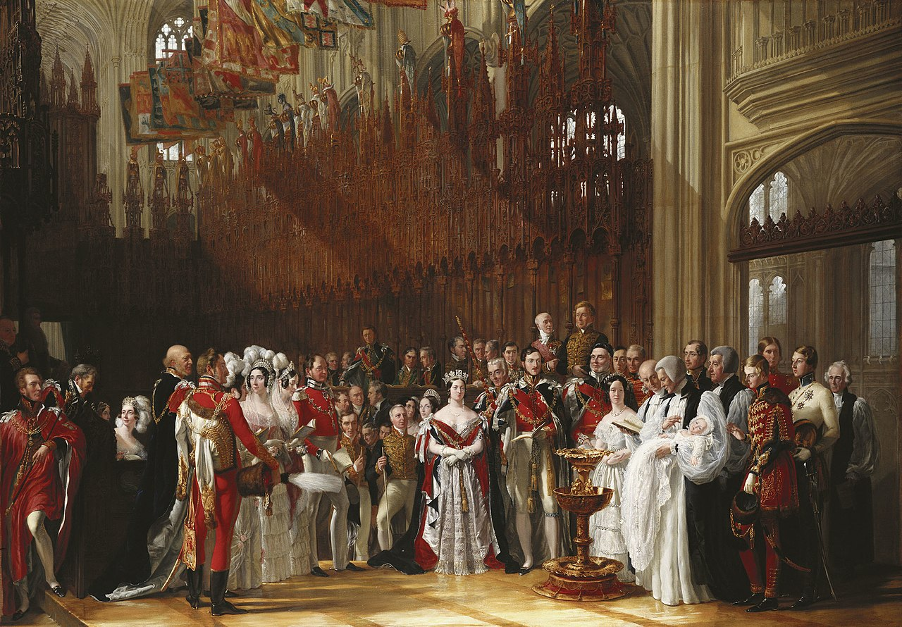 Sir George Hayter (1792-1871) - The Christening of The Prince of Wales, 25 January 1842 - RCIN 403501 - Royal Collection.jpg