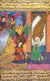 Siyer-i Nebi - Muhammad macht sich Sorgen um Imam Ali (), der Medina verlassen usste, doch Erzenegel Gabriel () -dschabrail- beruhigt ihn, dass ihm nicht passiert ist.jpg