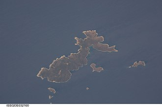 Skantzoura - Image: Skantzoura from space