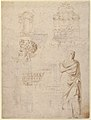 Sketches of a Funeral Monument, a Niche with Statues, a Helmet in the Shape of a Human Head, an Entablature and a Female Statue MET 59.608.157a.jpg
