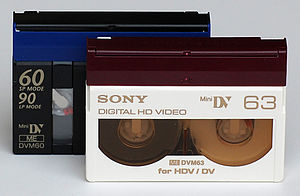 HDV - MiniDV cassettes for DV and HDV recording