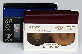 HDV - MiniDV cassettes for DV and HDV recording