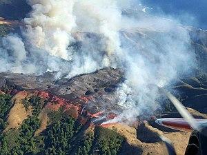 Soberanes Fire - Fire along coastal ridge on July 25, 2016.