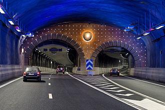 Södra länken - Exit Nynäsvägen to west