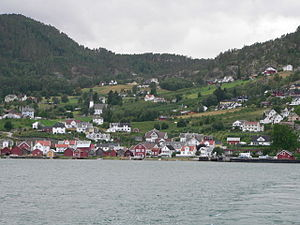 Solvorn - View of the village