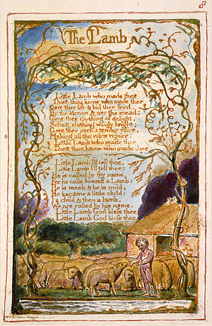 Songs of Innocence and of Experience, copy AA, 1826 (The Fitzwilliam Museum), object 8 The Lamb.jpg