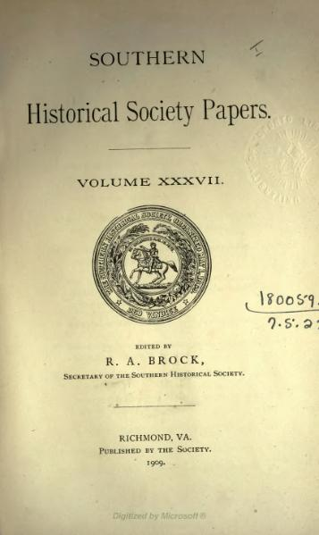 File:Southern Historical Society Papers volume 37.djvu