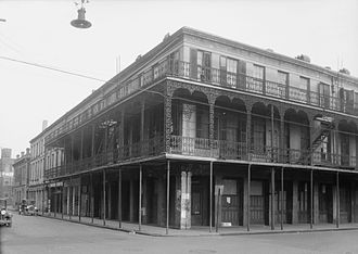 Mobile, Alabama - HABS photo of the Southern Hotel on Water Street, completed in 1837. (destroyed during urban renewal)