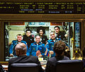 Soyuz TMA-06M crew talks with the Russian Mission Control.jpg