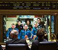 Soyuz TMA-06M crew talks with the Russian Mission Control.jpg