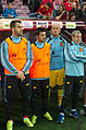 Spain - Chile - 10-09-2013 - Geneva - Alvaro Negredo, David Villa and José Reina.jpg
