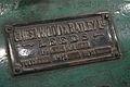 Specification Plate - Greenwood & Batley DC Generator - Birla Industrial & Technological Museum - Kolkata 2014-01-23 7089.JPG