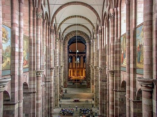 Speyerer Dom Mittelschiff (von Westempore)