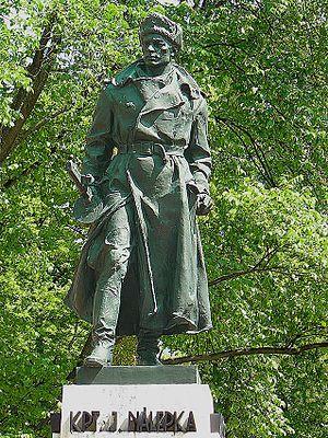 Ján Nálepka - Statue of Ján Nálepka in Spišská Nová Ves, Slovakia.