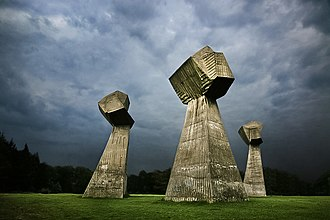 Bubanj Memorial Park - Three fists monument