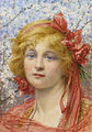 Spring (head of a girl with tulips in her hair) by William Savage Cooper.jpg