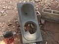 Squatting pan after release - Cuvette d´accroupissement après démoulage (5354062265).jpg