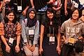 Srishti Sethi, Amy, Rupika Sharma & Who, Asian Wikimedians meetup at Wikimania 2018 (01).jpg