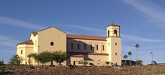 Bullhead City, Arizona - One of the largest buildings in the city, St. Margaret Mary Church in Bullhead City is visible for miles. It was completed in 2011.