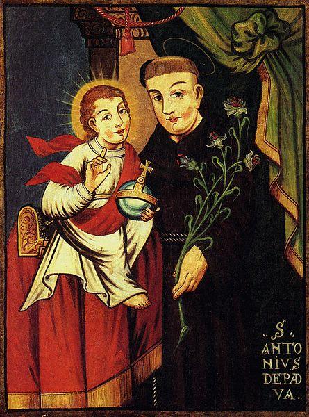 File:St Anthony of Padua 1744 Belarusian school.jpg