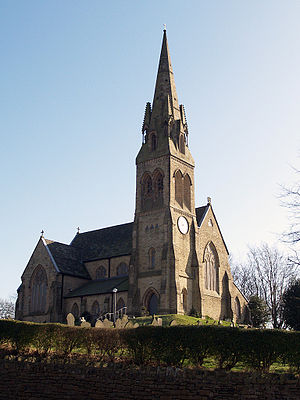 Castleton, Greater Manchester - The Church of St Martin's at Castleton, was completed in 1863.