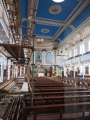 Saint Mary's, Calton - Interior of St Mary's.