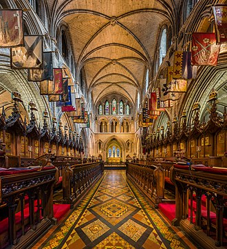 St Patrick's Cathedral, Dublin - The choir of St Patrick's Cathedral